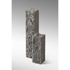 Palisada łupana 40 cm szaro-biały